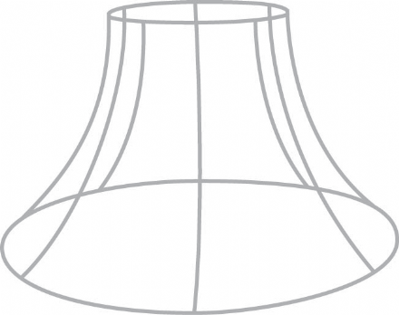 "12""  Bowed Empire Lampshade Frame with R/G Fitting"